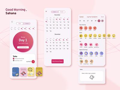 Inez   Period Tracking App   design ux ui app