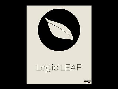 LOGIC LEAF flat logo design by @mkrmStudio flat branding vector logo design illustration graphic design