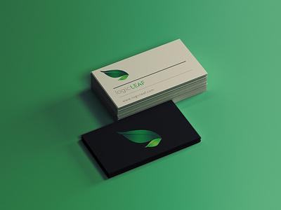 LOGIC LEAF Business card design by @mkrmStudio branding design logo illustration graphic design