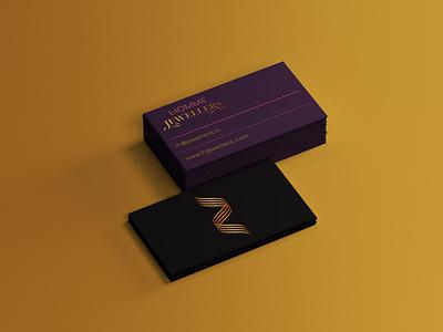 L HOMME JEWELLERS luxury Business card design by @mkrmStudio branding design logo graphic design