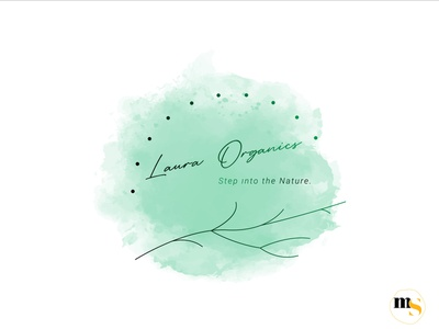 Laura Organics édition femmes watercolor design by @mkrmStudio illustration design logo graphic design