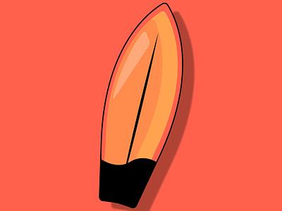 Surfing 🏄 board illustration by @mkrmstudio sea ocean hot summer board surfing vector illustration design graphic design