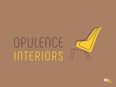 OPULENCE INTERIORS logo design by @mkrmstudio typography vector illustration design branding graphic design logo furniture interior opulence