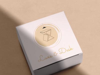 Luxe & Desk box mockup by @mkrmstudio mockup box vector branding illustration design logo graphic design desk luxury luxe