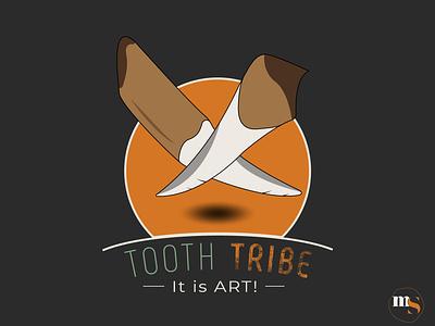 TOOTH TRIBE logo design by @mkrmstudio mascot vector branding illustration logo design graphic design tribe tooth
