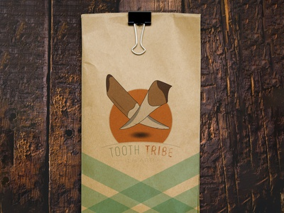TOOTH TRIBE Paper packet design by @mkrmstudio typography vector branding illustration design logo graphic design packet paper tribe tooth