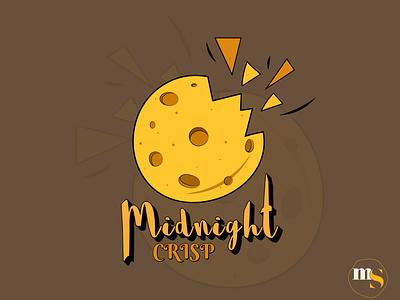 Midnight CRISP logo design by @mkrmStudio typography vector branding illustration logo design graphic design chips crisp midnight