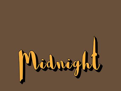 Midnight typography design by @mkrmStudio vector branding illustration design logo graphic design typography midnight