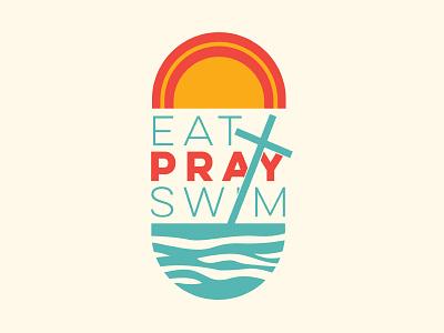 Eat Pray Swim Patch easter lake swim open swim swim sunset religion catholic pray patch