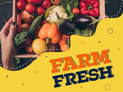 Farm Fresh Campaign campaign vegetables farmers market print fresh design fruits and vegetables online fruits farming fresh farm
