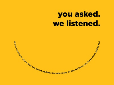 You Asked. We Listened Campaign you asked happy face happy food college university dining