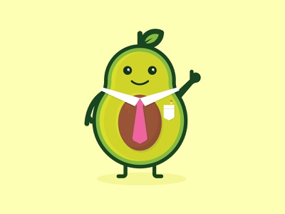 TAD The Avocado illustration character avocado food dining illustration art