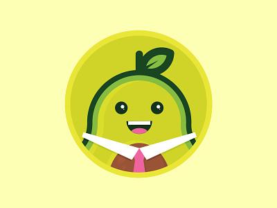 TAD the Avocado tie happy university dining food illustration character avocado food
