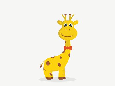 GIRAFFE animals tie illustration character animal giraffe