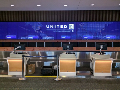 United Airlines Video Wall Branding airports mco motion graphics design video walls united branding