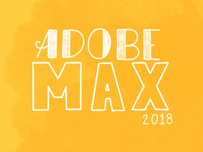 Adobe Max 2018 lettering ipad pro procreate handlettering los angeles la adobe max adobe