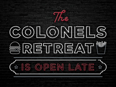 Colonels Retreat Neon Sign