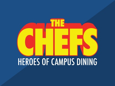 The Chefs Logo super hero letters chefs illustration logo design pop art logo