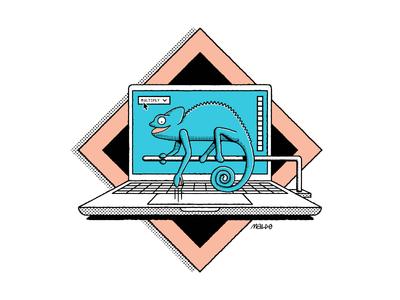 Avocode chameleon avocode wacom pattern editorial icon simple maldonaut maldo bold minimal illustration