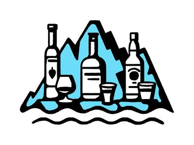 Travel+Leisure / Iceland — spot illustration iceland spot wacom pattern editorial icon blackandwhite simple maldonaut maldo minimal illustration
