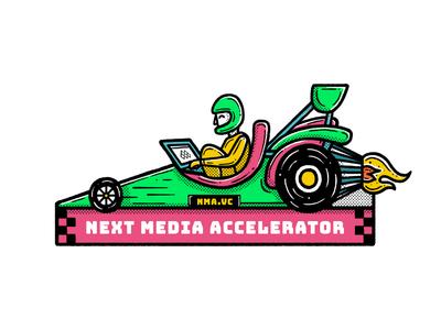 Next Media Accelerator formula sticker wacom pattern editorial icon blackandwhite simple maldonaut maldo minimal illustration