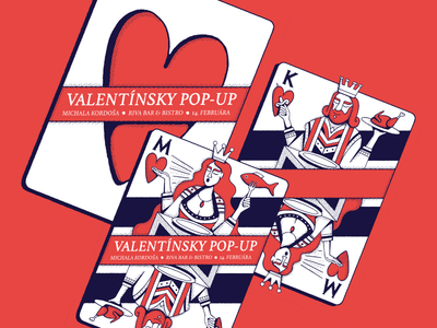 Valentine's Day maldonaut heart king queen card wacom valentine editorial simple bold minimal illustration