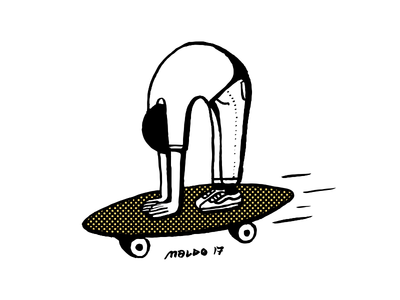 On my Longboard skate longboard wacom pattern editorial icon blackandwhite simple maldonaut maldo minimal illustration