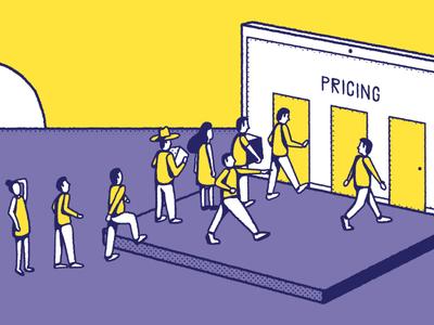 Chartmogul startup conceptual pattern editorial simple maldonaut maldo bold minimal illustration
