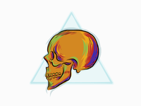 Skull, illustration with Adobe draw