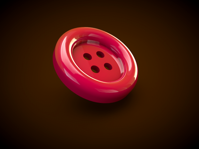 Red Button red button sewing 3d cinema4d chocolat anna chocola shiny glossy reflection