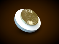 White & Gold Posh button
