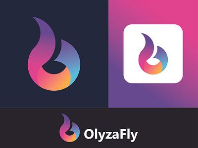 Olyzafly design company logo logo design letter mark colourful software app logo logoinspiration logo concept concept creative minimal modern app design logo idea letter logo icon logo logo designer graphic design branding logo