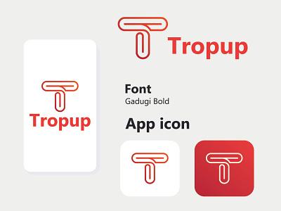 Tropup logo design logos tech logo startup logo minimal modern logoinspiration icon design app design logo type logo idea creative concept t logo letter logo icon logo logo designer graphic design branding logo