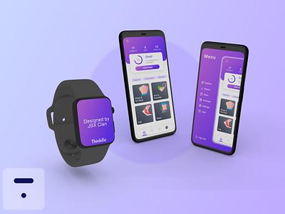 Fitness App mobile fitness 3d ux illustration ui graphic design design app