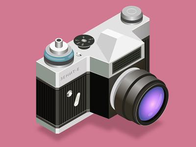 Isometric camera vector camera isometry illustration