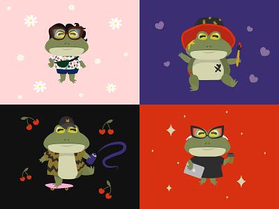 Frogs frog vector illustration