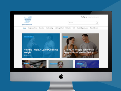 Fitness blog design for USA based company health ux ui responsive webdesign wordpress website
