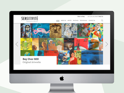 Web Design for Art website ux ui responsive webdesign wordpress website