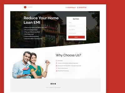 Landing Page for Loan Company homeloan onepage landingpage