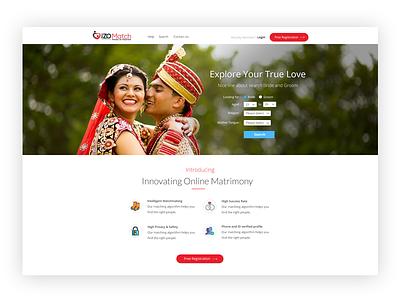 Matchmaking website home page design matchmaking ui design web