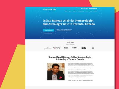 Astrology Website ui ux website responsive wordpress webdesign