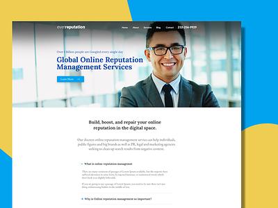 Reputation Management Company Website ui ux responsive wordpress website webdesign