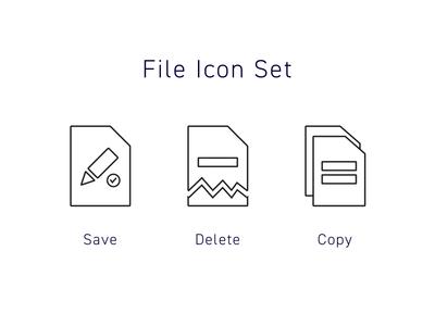 Icon Set #dailyui #055 icon dailyui
