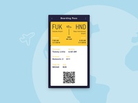 Boarding Pass #dailyui #024