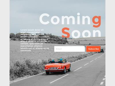 Coming Soon #dailyui #048 ui dailyui