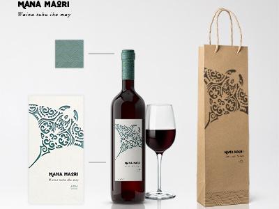 Mana Maori - Wine Bottle lalatiana carpentier design newzealand packaging branding wine bottle