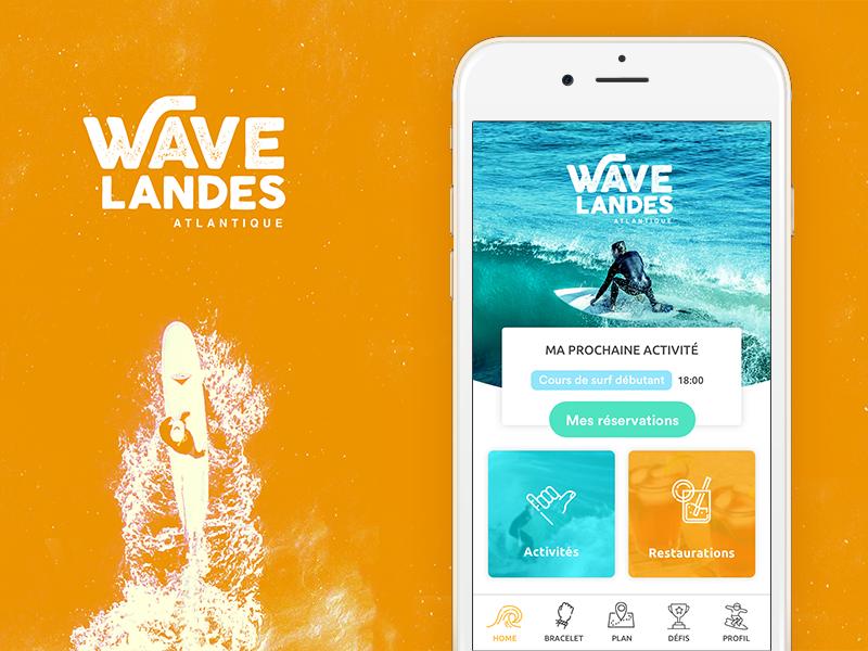Waveland app beach water home surf mobile