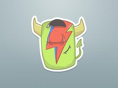 Lil BROwie #7 davidbowie ziggy ziggystardust bowie david music fan stickers sticker illustration character art