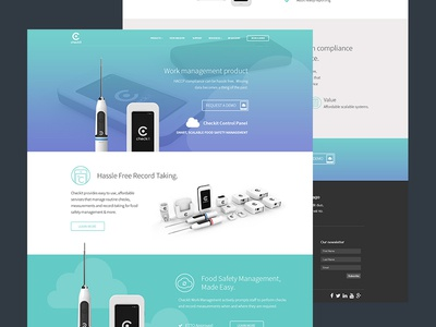 Checkit website product presentation responsive web design