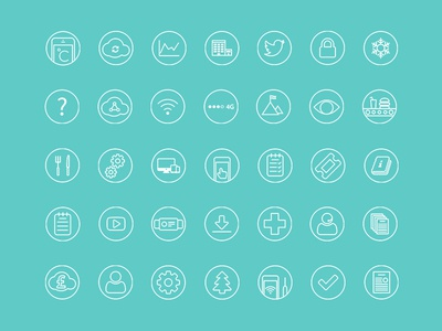 Checkit Icons browser icons infographics web design icons